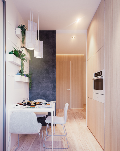 整个公寓都弥漫着明亮惬意的温馨...